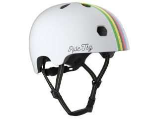 Casco Ciclista TSG Helmets Meta Graphic Design city Blanco con lineas