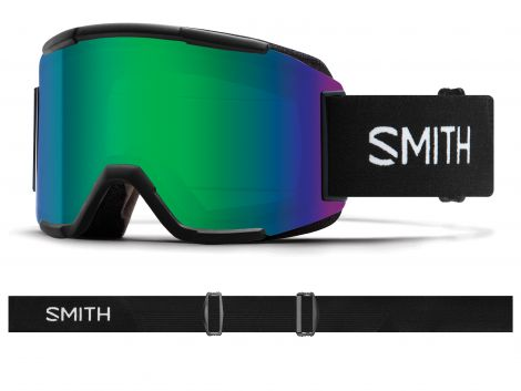 Antiparra Nieve Smith Squad Black Green Mirror Negro